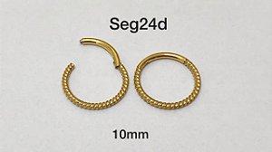 Segmento aço náutico gold 10mm