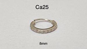 Argola torção em prata 8mm