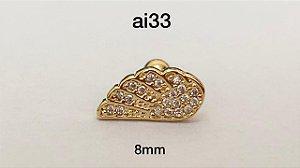 Tragus folheado dourado (bolinha 4mm)