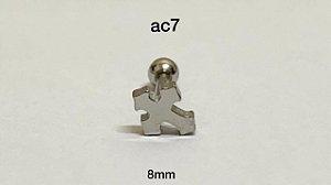 Tragus cruz 100% aço cirúrgico 8mm