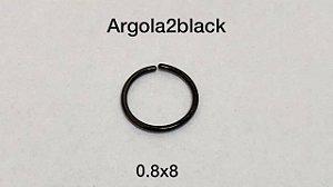 Argola nariz black 0.8 x 8mm