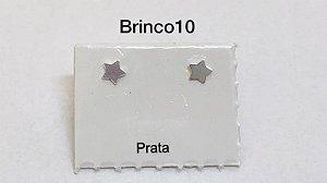 Brinco estrela em prata 925 tarracha banhada a prata