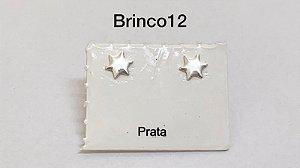 Brinco em praa 925 tarracha banhada a prata