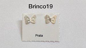 Brinco borboleta em prata 925 tarracha banhada a prata