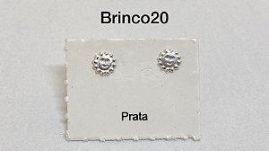 Brinco sol em prata 925 tarracha banhada a prata