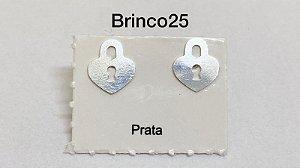 Brinco em prata 925 tarracha banhada a prata