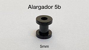 Alargador aço black 5mm