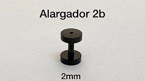 Alargador aço black 2mm