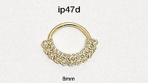 Argola em prata dourada 8mm