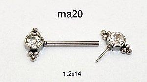 mamilo aço puch pin 14mm