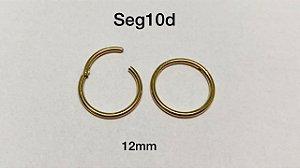 segmento aço dourado 12mm