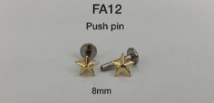 ponto de luz push pin 8mm