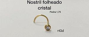 nostril folheado cristal 1,75