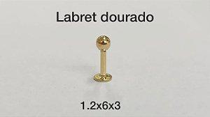 labret dourado 6mm