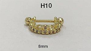 helix folheados dourado