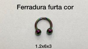 ferradura 6mm furta pvd