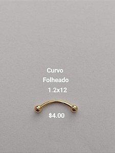 Curvo dourado 12mm