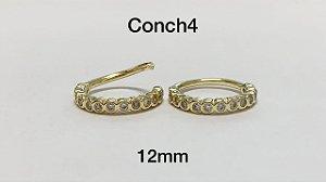 conch folheado dourado 12mm
