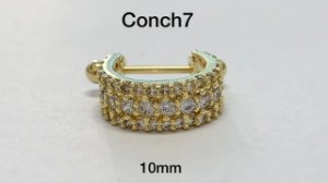 conch folheado dourado 10mm