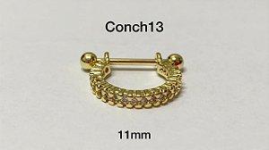Conch folheados folheado 11mm