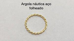 argola nautica aço dourado 8mm