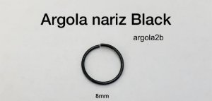 argola nariz black 8mm