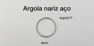 argola nariz aço 9mm