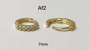 Argola de clicker folheado dourada 7mm