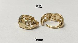argola folheada dourada 8mm