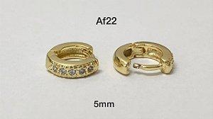 argola de clicker folheada dourada 5mm