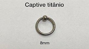 captive titanio 8mm