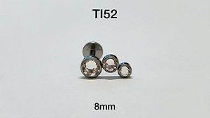 cluster em titanio 3 pedras