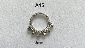 argola torçao folheado 8mm