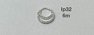 argola dupla em prata 6mm