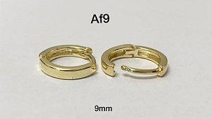 Argola clicker folheado dourado 8mm