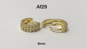argola cliker folheado dourado 8mm