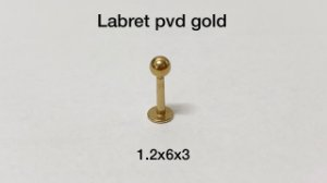 Labret pvd gold 6mm