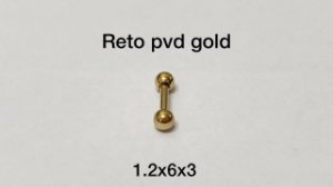 Reto pvd gold 6mm