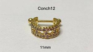 Conch folheado dourado 11mm