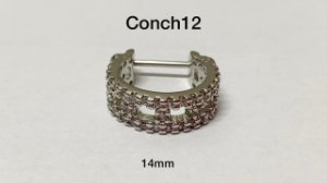 Conch folheado 14mm