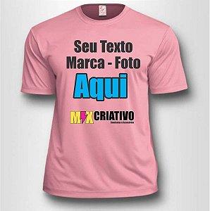 Camiseta Rosa Claro 100% Poliéster Personalize do seu jeito!!!