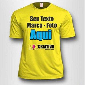 Camiseta Amarelo canário 100% Poliéster Personalize do seu jeito!!!