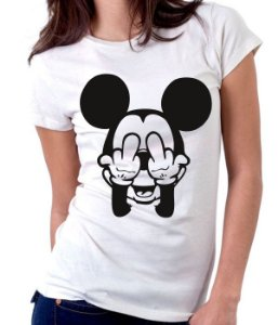 Camiseta Mickey Mal Educado  - 100% Algodao