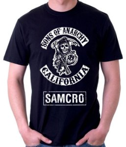 Camiseta Sons of Anarchy  - 100% Algodao
