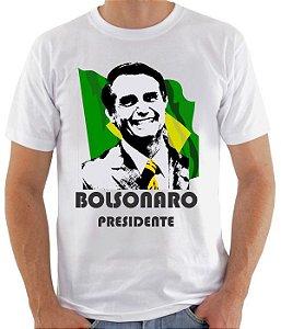 Camiseta Bolsonaro Presidente  - 100% Poliéster
