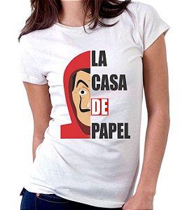 Camiseta La Casa de Papel  - 100% Poliéster