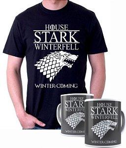 Camiseta + Caneca Game of Thrones House Stark