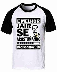 Camiseta Raglan Jair Bolsonaro (modelo 02)