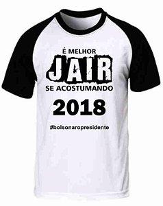 Camiseta Raglan Jair Bolsonaro (modelo 04)