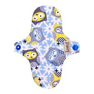 Protetor de Calcinha com abas - Coruja Azul